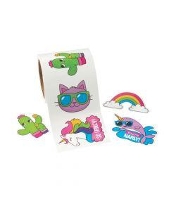 Cat, Rainbow and Unicorn Waterproof Stickers