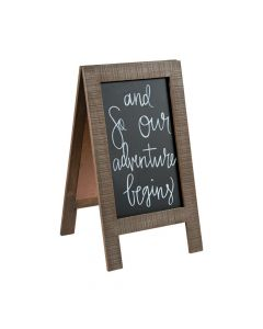 Chalkboard Easel with Distressed Frame