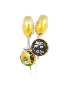 Champagne Mylar Balloons