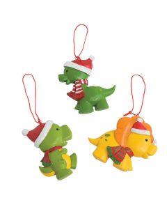 Christmas Dinosaur Ornaments