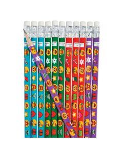 Christmas Emoji Pencils