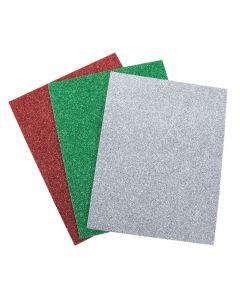 Christmas Glitter Self-Adhesive Foam Sheets