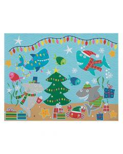Christmas Shark Sticker Scenes