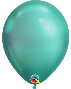 Chrome Green 27cm Round Latex Balloon