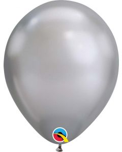 Chrome Silver 27cm Round Latex Balloon