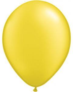 Citrine 12cm Pearl Plain Round Latex Balloon