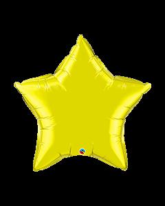Citrine Yellow Plain Foil Balloon