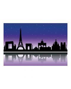 City of Paris Silhouette Backdrop