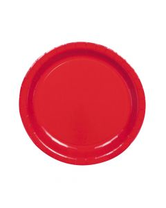 Classic Red Paper Dinner Plates