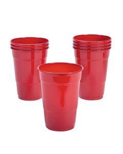 Classic Red Plastic Tumblers