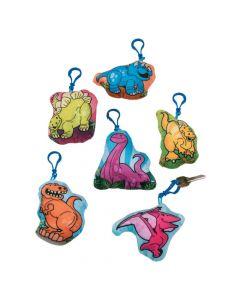 Clip Critters Stuffed Dinosaur Keychains