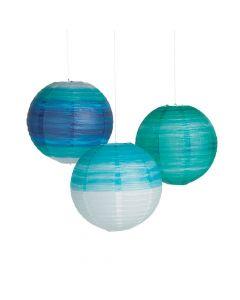 Coastal Seaside Hanging Paper Lanterns
