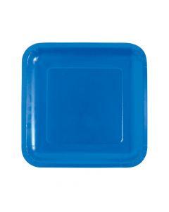 Cobalt Blue Square Paper Dinner Plates