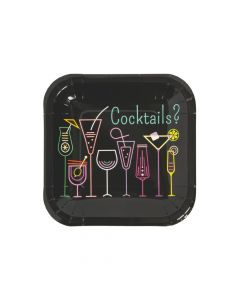 Cocktail Party Paper Dessert Plates - 8 Ct.