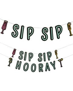 Cocktail Party Sip Sip Hooray Garlands
