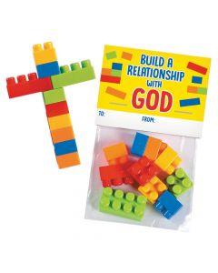 Color Brick Cross Valentine Exchanges