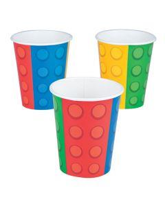 Color Brick Paper Cups