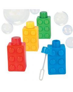 Color Brick Party Bubble Bottles