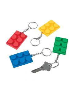Color Brick Party Keychains