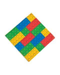Color Brick Party Luncheon Napkins
