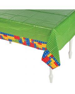 Color Brick Party Plastic Tablecloth
