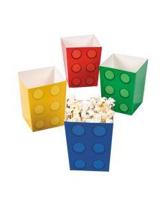 Color Brick Party Popcorn Boxes