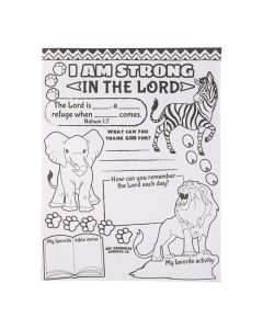Color Your Own African Safari VBS Posters