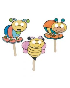 Color Your Own Bug Stick Masks