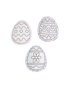 Color Your Own Canvas Lacing Easter Eggs