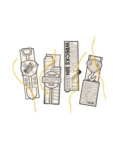 Color Your Own Construction VBS Bookmarks