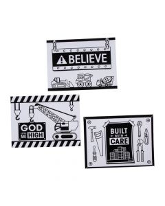 Color Your Own Construction VBS Fuzzy Posters