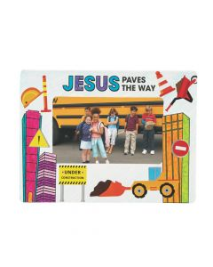 Color Your Own Construction VBS Picture Frame Magnet Craft Kit