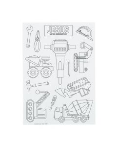 Color Your Own Construction VBS Sticker Sheets
