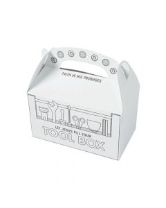 Color Your Own Construction VBS Treat Boxes