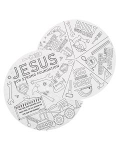 Color Your Own Construction VBS Wheels
