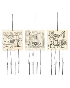 Color Your Own Construction VBS Wind Chimes