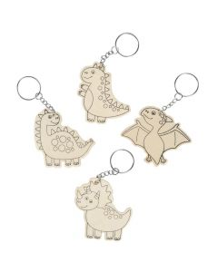 Color Your Own Dinosaur Keychains
