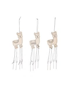 Color Your Own Fiesta Llama Wind Chimes