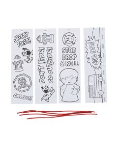 Color Your Own Fire Safety Bookmarks