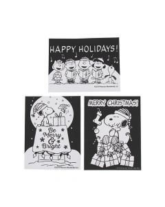 Color Your Own Fuzzy Peanuts Christmas Posters