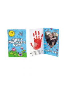 Color Your Own Handprint Mother's Day Picture Frame Card Craft Kit