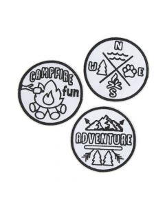 Color Your Own Iron-On Camp Patches