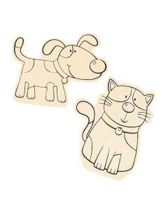 Color Your Own Large Dog and Cat Shapes