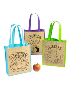 Color Your Own Medium He Lives Tote Bags