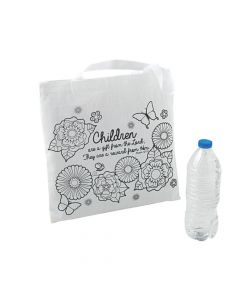 Color Your Own Medium Religious Mother's Day Tote Bags