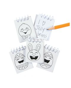 Color Your Own Mini Easter Notepads