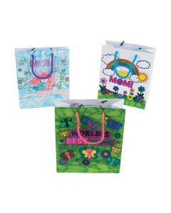 Color Your Own Mom Gift Bags