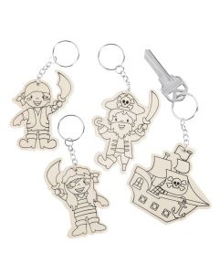 Color Your Own Pirate Keychains