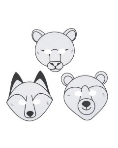 Color Your Own Railroad VBS Animal Masks