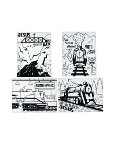 Color Your Own Railroad VBS Fuzzy Posters